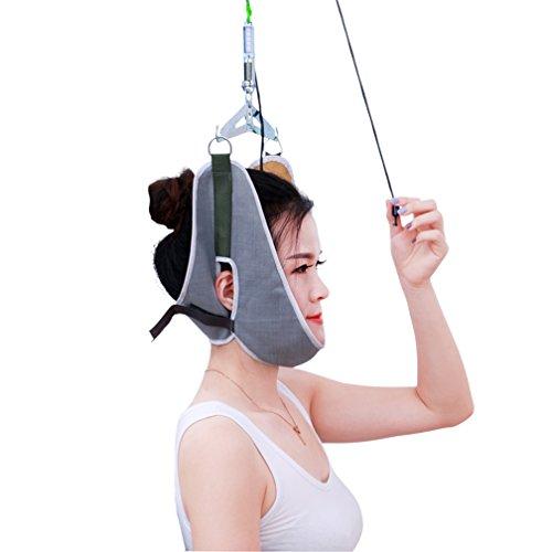 HRRH Tracción Cervical, Gancho Tipo Cuello Masajeador Terapia Dispositivo Camilla Quiropráctica Postura Corrector Cabeza Espalda Relajación