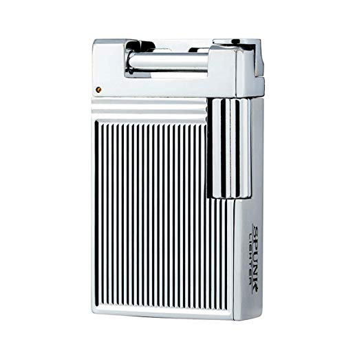 Soft Flame Refillable Butane Gas Cigarette Tobacco Pipe Lighter Lift Arm Metal Lighter