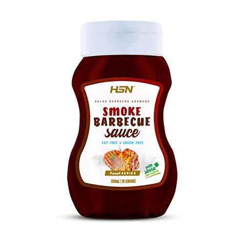 Salsa Barbacoa Ahumada de HSN | Smoked Barbecue Sauce | Bajo en Calorías, Sin Grasa, Sin Azúcar, Edulcorado con Estevia | No GMO | 350ml - 70 servicios