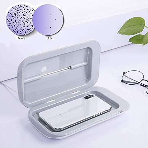 LIUJIE Tragbare UV-Handy Sanitizer mit USB-Ladegerät - Multi-Use-UV-Licht Desinfektion für Smartphones unter 6in, für Masken Uhren Schmuck, abgetötete Bakterien 99,9%
