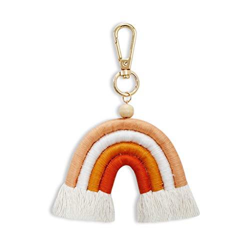 GREEN&RARE Llavero de arco iris para coche, cuerda trenzada, para mujer, regalo ideal para el día de San Valentín, regalo de amigos.