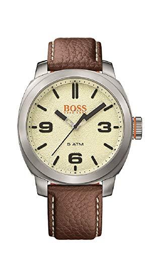 Hugo Boss Orange Cape Town Herren-Armbanduhr Analog mit braunem Leder Armband 1513411