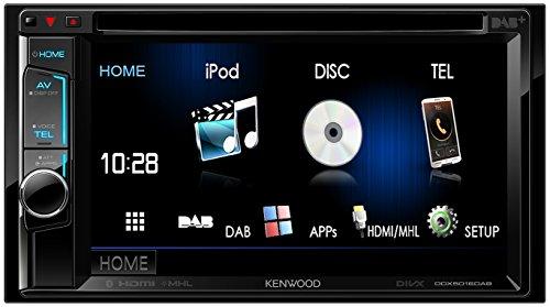 Kenwood DDX5016DAB 15,7 cm Doppel-DIN-VGA-Monitor mit Bluetooth-Modul und Digitalradio schwarz