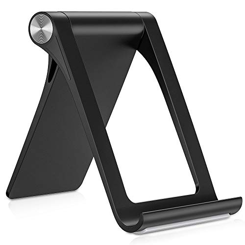 STRIFF 360° ROTATABLE Multi Angle Mobile Stand. Phone Holder for iPhone, Android, Samsung, OnePlus, Xiaomi(Black)