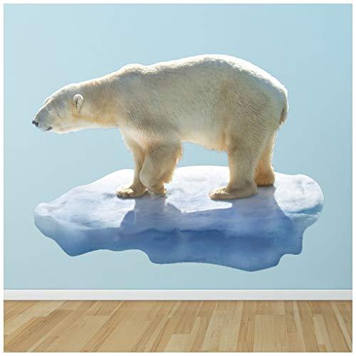 azutura Eisbär Wandtattoo Tiere Wand Sticker Kinder Natur Wohnkultur Erhältlich in 8 Größen X-Groß Digital