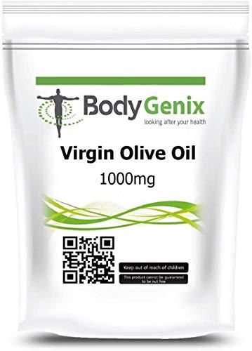Virgin Olive Oil 1000mg in Capsules Bodygenix UK Omega-3-6 for Health Heart...