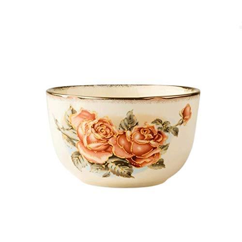 YUZZZKUNHCZ W Bowls, 15 x 6,5 cm, cuenco de arroz para sopa, cuenco de arroz para el hogar, tazón de cereales, vajilla de cerámica, ligero y duradero, apto para lavavajillas y hornos de microondas