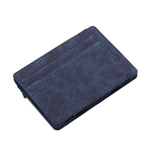Cartera para Hombre Creative PU Magic Wallet Wallet Funda para Tarjeta de crédito, Monedero pequeño con Cremallera