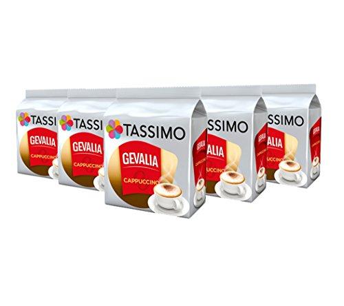 Tassimo Gevalia Cappuccino, Kaffee, Kaffeekapsel, Gemahlen, 16 T-Discs (8 Portionen)