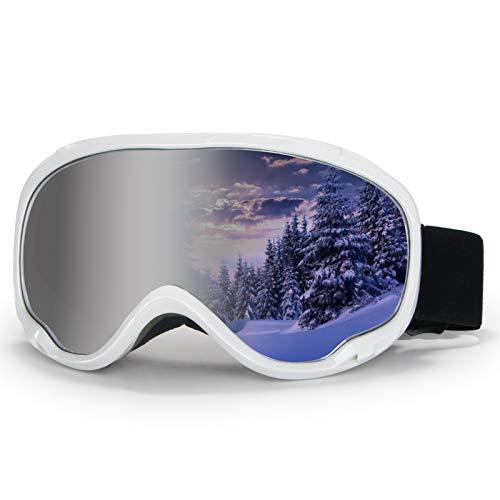 4FQ Outdoor Snow GogglesOTG Ski Goggles Anti Fog Snow Sport Goggles 100% UV400 Snowboard Goggles Double Lens Ice Goggles Racing Ski Goggles for MenWomenYouth Ski Glasses Snowmobile Goggles