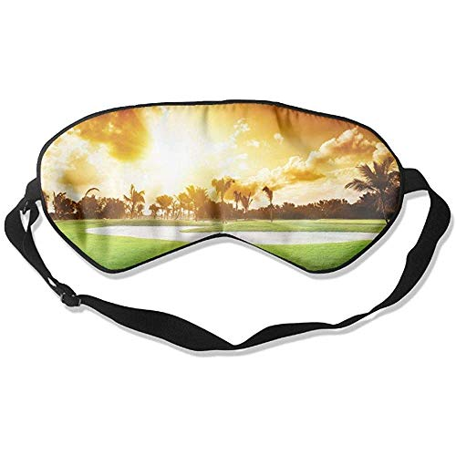 Slaap oogmasker golfbal gras zachte oogstrip verstelbare hoofdband eyeshade Travel Eyepatch