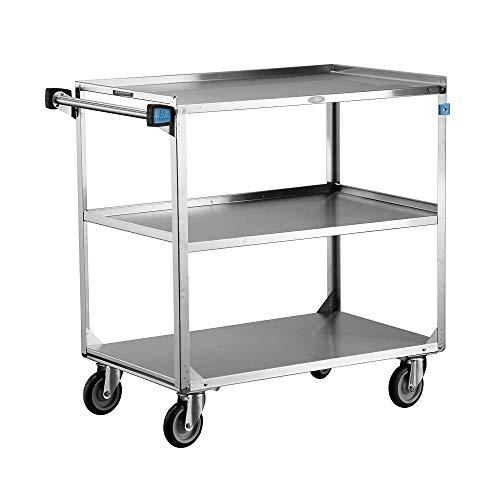 "Lakeside 444 Heavy Duty Utility Cart, 3 Shelves, Stainless Steel, 500 lb. Capacity, 22-3/8"" x 39-1/4"" x 37-1/4"""