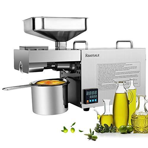 RBAYSALE 1000W Pressa per Olio Automatica Macchina della pressa per olio in Acciaio Inossidabile 304 da LCD per Arachidi/Semi di Girasole/Noci a freddo/caldo
