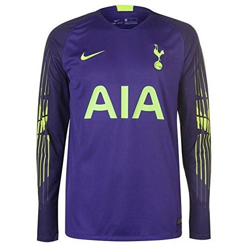 Nike 2018-2019 Tottenham Home Goalkeeper Football Soccer T-Shirt Maglia (Purple)