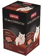 animonda Vom Feinsten Volwassen kattenvoer, nat voer voor volwassen katten, multivleescocktail, 6 x 100 g