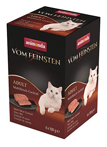 animonda Vom Feinsten Adult Katzenfutter, Nassfutter für ausgewachsene Katzen, Multifleisch-Cocktail, 6 x 100 g