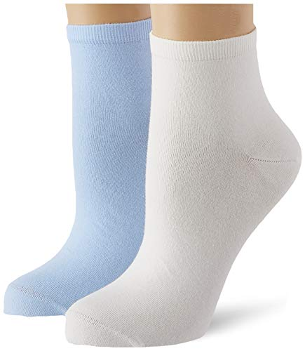 Tommy Hilfiger Womens Casual Women\'s Short (2 Pack) Socks, light blue, 39/42