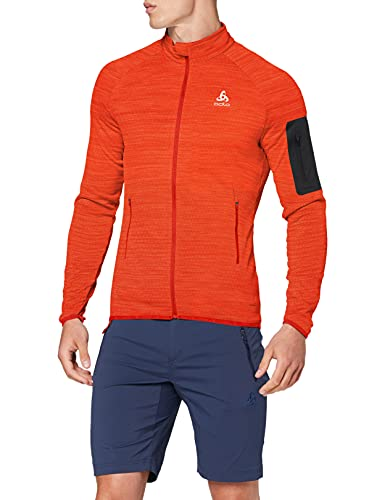 Odlo Midlayer full zip STEAM Pull Homme poinciana melange FR : XL (Taille Fabricant : XL)