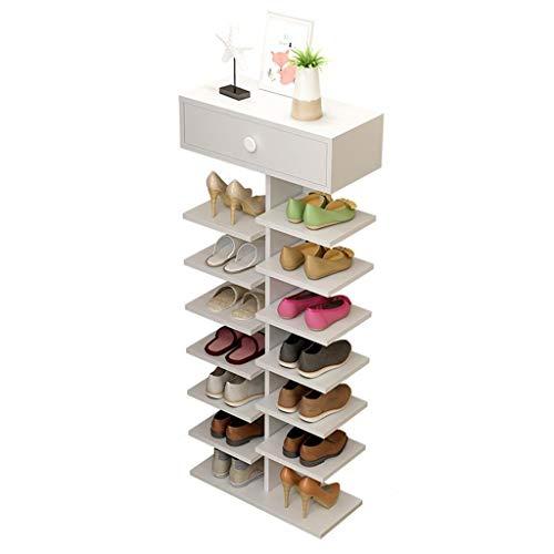 M-YN Zapatero 8-Nivel de Zapatos de Madera de gabinete en Rack, Zapatos Estante del Organizador del almacenaje, Ahorro de Espacio, por Puerta de Entrada Pasillo, baño, Sala de Estar, 40 x 24 x 108cm