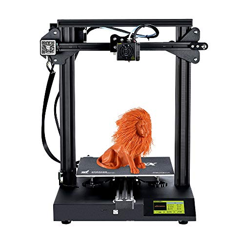3D Printers, Fesjoy 3D Printer, SC-10 Desktop 3D Printer Kit Silent Printing 235*235*280mm Build with 3.5 Inch Touchscreen Built-in Safety Power Supply Resume Print Filament Run Out Detection 16GB