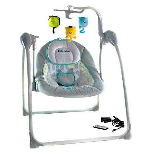 Elektrische Babyschaukel Automatische Baby Wiege Wippe LILOU (Fernbedienung, MP3-Player via USB,...