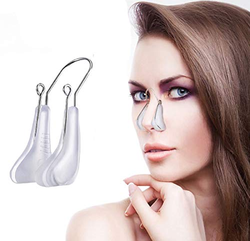 Nose Shaper Clip Nose Lifter Nose Beauty Up Lifting Tool Soft Safety Silicone Rhinoplasty Nose Bridge Straightener Corrector Slimming Device for Wide Crooked Nose Women