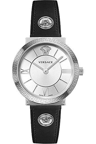Versace Damen Armbanduhr Glam.Lady 36 D/WH-SI S/BLK SS V289 VEVE001 19