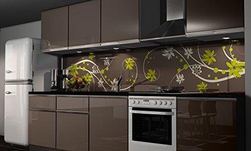 Küchenrückwand Folie selbstklebend Spritzschutz Fliesenspiegel Deko Küchenzeile Floral | mehrere Größen