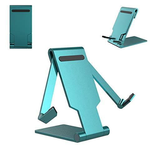 Soporte para teléfono y tableta, ergonómico, universal, de aleación de aluminio, plegable, con rotación multiángulo y diseño antideslizante, apto para el hogar y la oficina de escritorio