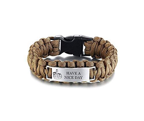 ForeverWill Chunky Paracord Armband Überleben Wickelt Kabel Armbänder Armreif für Männer Lustige Geschenke Schmuck für Freund Ehemann Ehemann Bester Freund,9 Zoll