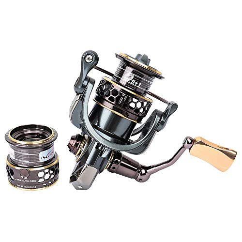 WSS Shoes Reel Giratorio Spining del Carrete Doble Carrete 9 + 1BB...