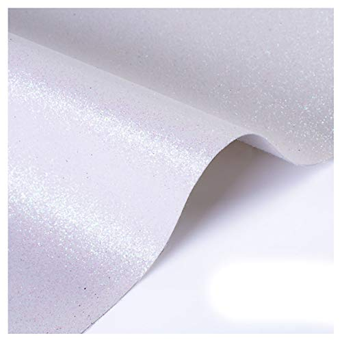 ZSFBIAO Tela de Grano de Cuero de imitación Material Texturizado por tapizar, Polipiel, Manualidades, para reparación de sofás Costura Elaboración Proyectos de Bricolaje -Blanco 1.38×1m
