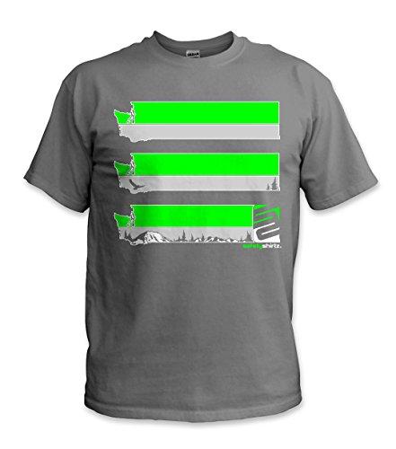 SafetyShirtz Washington Safety Tee Gray w/Green XL