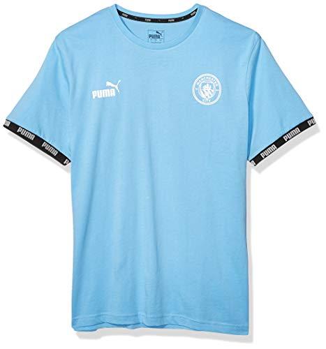 PUMA Mens International Soccer FtblCulture T-Shirt Manchester City, Team Light Blue, Small