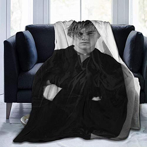 Yuanmeiju Leonardo Dicaprio 3D-Druck Fleecedecke Wurfgröße Leichte Wurfdecke Superweiche, gemütliche Mikrofaserdecke für Schlafsofa Home Gemütliche, warme Wurfdecken 60 'x 50'