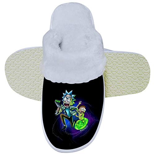 Rick and M-orty Plush Cotton Shoes Warm Home Shoes for Indoor Outdoor Unisex 12-13 B(M) USWomen / 10-10.5D(M) US Men