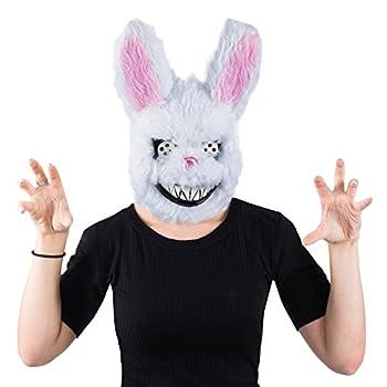 Tigerdoe Scary Masks - Creepy Bunny Mask - Killer Bunny Mask - Spooky Mask