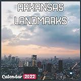 Arkansas Landmarks Calendar 2022: Official Arkansas Calendar 2022, 18 Month Photo of Arkansas Travel calendar 2022, Mini Calendar