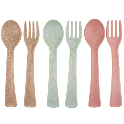 Kids Spoons and Forks Set, 6 pcs
