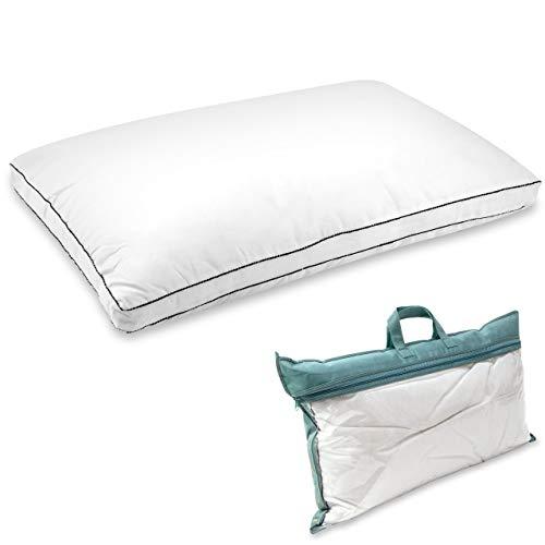 Vitabo Premium Kopfkissen | Gemütliches Schlafkissen als Gästekissen, Reisekissen oder Schlafzimmerkissen | individuell anpassbare Füllung | Allergikerfreundlich | 40 x 65 cm