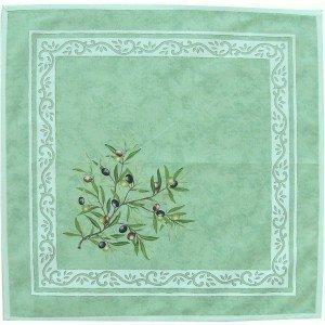 jojo la cigale - Serviette LE CLOS DES OLIVIERS Coton Imprimé Vert