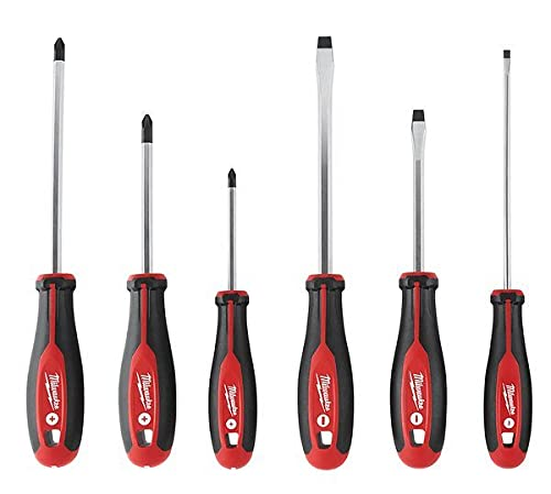 Milwaukee 48-22-2706 6Piece Phillips and Slotted Head Screwdriv Ing Set W/Magnetic Tips and Trilobe Handles