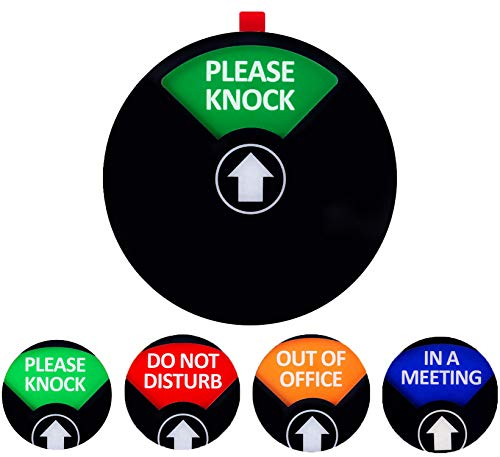 Privacy SignDo Not Disturb/Please Knock/Out of Office/in a Meeting Sign Privacy Door Sign That Lets Others Know Whether You#039re Available Or Not49inchBlack