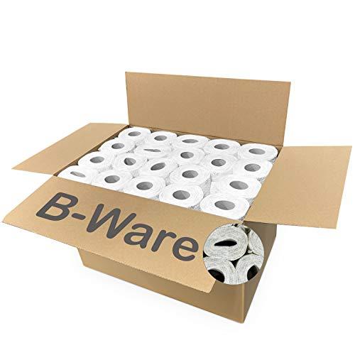 80x Rollen Toilettenpapier BULK-Verpackung 3-Lagig | Ware zweiter Wahl | Kann verformte Rollen enthalten