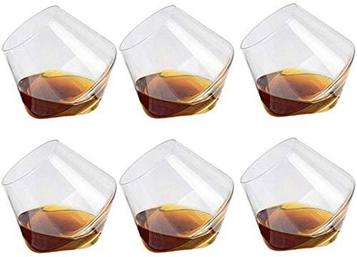 Putuio Whisky Vetro 400ML Tumbler Rum Bicchiere Vino Stile Classico senza Stelo Bicchieri da Vino Regalo Personalizzato Set di 6