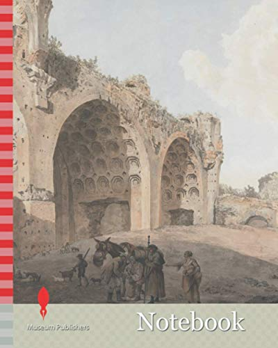 Notebook: Ruins of the Basilica of Maxentius in the Roman Forum, Abraham Louis Rodolphe Ducros, 1748-1810, Swiss, 1779, Watercolor with pen and black ink over graphite on laid paper