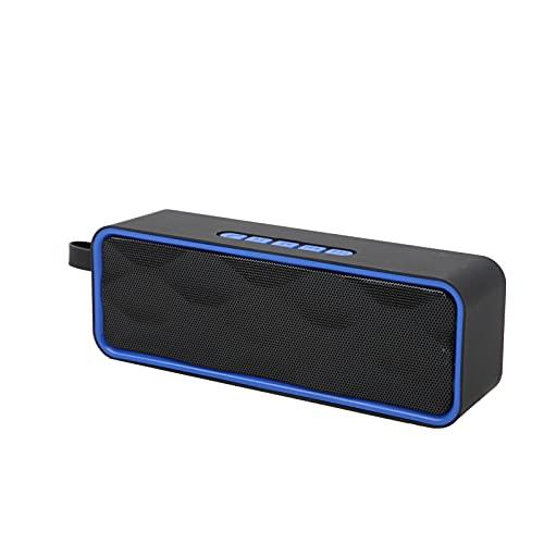 01 Lautsprecher Audio BT, Bequeme verschleißfeste Outdoor-BT-Lautsprecher Einfach zu verwenden zum Abhängen zum Feiern zum Camping zum Wandern zum Radfahren(Blau)