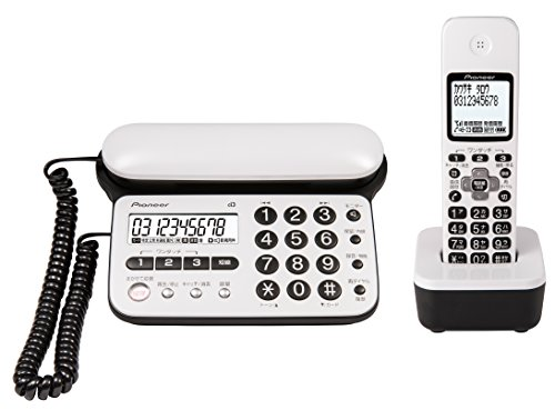 パイオニア TF-SD15S デジタルコードレス電話機 子機1台付き/迷惑電話防止 ピュアホワイト TF-SD15S-PW
