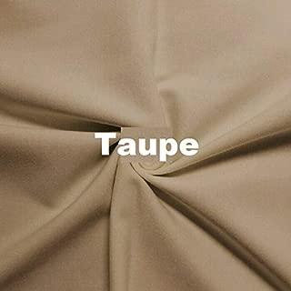 Wonderful Ponte DE Roma Jersey Knit Spandex Fabric by The Yard APPARELDRESS 2 Way Stretch (Taupe)