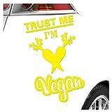 Kiwistar Pegatinas con texto 'Trust me, im Veganan', 25 colores neón mate
